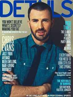 Chris Evans aka Captain America on the cover of May's Details Magazine!