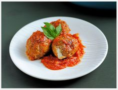 Tomato-Braised Meatballs: recipe calls foe soaking bread in water, but I've always used buttermilk (better flavor). I can't wait to make my meatballs like this!