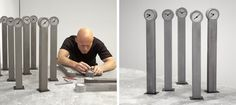 14 Ways To Add Some Concrete To Your Life > Mini Grandfather Clock by Johan Forsberg