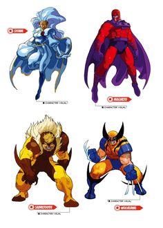 """""""X-men VS Street Fighter character art, great stuff. Disney Marvel, Marvel Vs, Marvel Dc Comics, Marvel Heroes, Character Model Sheet, Comic Character, Character Concept, Concept Art, Comic Books Art"""