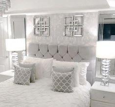 Grey Bedroom Decor, Room Design Bedroom, Stylish Bedroom, Room Ideas Bedroom, Small Room Bedroom, Home Bedroom, Small Rooms, Bedroom Furniture, Bedroom Designs