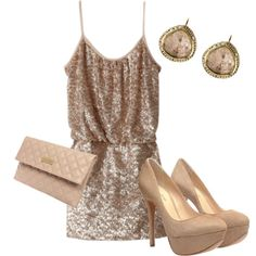 Sparkle, shine, and spin New Year's Eve away in this gorgeous little outfit.