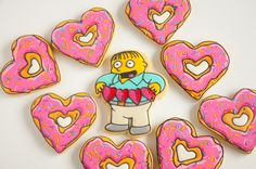 The Simpsons Valentines day cookies with Ralph Wiggum