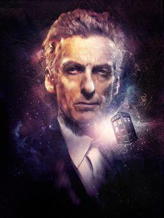 The Doctor - Peter Capaldi I Am The Doctor, Doctor Who Fan Art, Twelfth Doctor, Eleventh Doctor, Don't Blink, Peter Capaldi, Torchwood, Digital Portrait, Digital Art