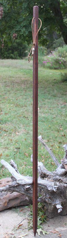 Poplar Wood Hiking Stick Walking Stick by KentuckyNaturally