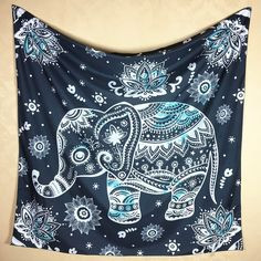 Animated Elephant Tapestry