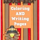 Writing and Coloring Pages for November...so good for those kindergarten and first grade friends!