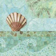 size: Stretched Canvas Print: Spa Shells I by NBL Studio : Fine Art Using advanced technology, we print the image directly onto canvas, stretch it onto support bars, and finish it with hand-painted edges and a protective coating. Decoupage Paper, Painting Edges, Illustrations, Stretched Canvas Prints, Framed Wall Art, Find Art, Sea Shells, Giclee Print, Art Prints