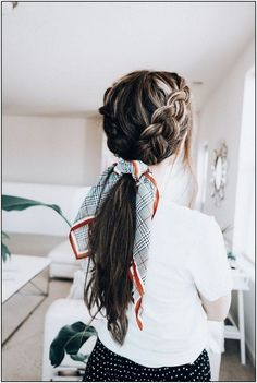 Dutch Braid Ponytail - - -Double Dutch Braid Ponytail - - - Long Hair Hairstyles For Girl Box Braids Hairstyles, Popular Hairstyles, Trendy Hairstyles, Short Haircuts, Hairstyle Ideas, Bandana Hairstyles, Prom Hairstyles, Summer Hairstyles, Hairdos