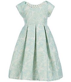 665b8e4a72e Bonnie Jean Little Girls 2T-6X Cap-Sleeve Patterned-Jacquard Dress Dresses  Kids