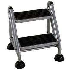 Cosco 2-Step Rolling Step Ladder, Multicolor