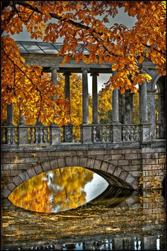 Marble Bridge - Ekaterininky Park, near St. Petersburg, Russia