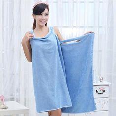 Wearable bath towels