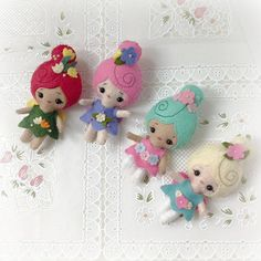 Tiny Spring Fairies by LilHappyThangs on Etsy