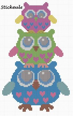 Owl Tower - in French, but you can look at the chart image and key.