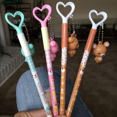 Kawaii Korean Bear Pen Listing is for one pen of your choice. All pens are 0.5mm black in gel pens. N/a Accessories
