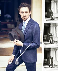 JJ Feild for Esquire's Big Black Book Fall 2013  Photos by Phil Poynster