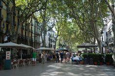 La Rambla-Barcelona La Rambla  La Rambla is the main pedestrian street in Barcelona, and here you'll find expensive tourist restaurants, stalls selling souvenirs and street performers.