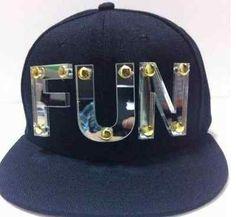 71882e44610 FUN Plate Sign Black Adjustable Hat Cap Snapback - USA Seller