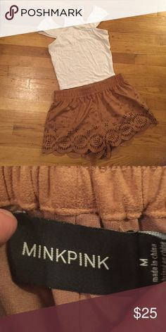 Suade shorts Only worn once! They have just been sitting in my closet MINKPINK Shorts Skorts