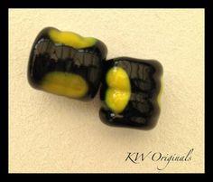 Cute 1cm Handmade Barrel Glass Beads £3.00