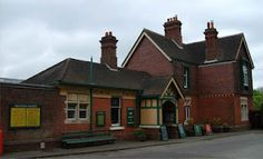 The Horsted Keynes Station is rail station in West Sussex, England...where mary and matthew say good bye at the train station