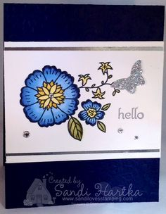 The flowers found in the You're Wonderful stamp set are great for coloring with Blendabilities.