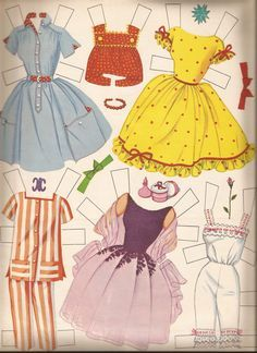 1962 Barbie paper doll. This looks familiar; I think I had this waaaay back when!