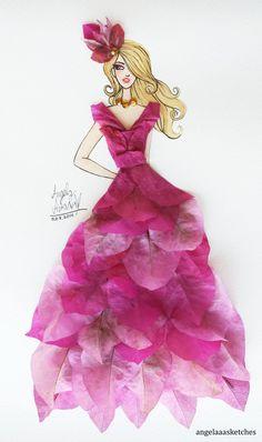 Flower Fashion 9 by angelaaasketches on DeviantArt