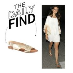 The Daily Find: Aldo Gold Flat Sandals