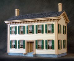The Lincoln Springfield Home Dollhouse was created in honor of the grand opening of the Abraham Lincoln Presidential Library and Museum, which is located in Springfield, Illinois. This home has been a