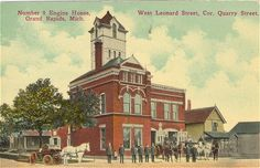 Number 9 Engine House,   West Leonard Street, Corner Quarry Street, Grand Rapids, Mich