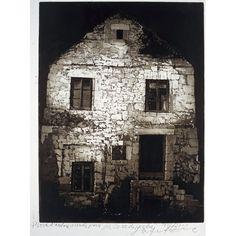 safet zec Casa di pietra  acquatinta puntasecca  100x75 cm  1999