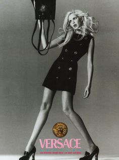 goldenbuttonsnpearls:  Nadja Auermann for Versace. 1994.