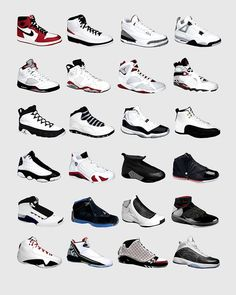 22e4e9b8f3984c Nike Air Jordans - Jordan Poster - Nike Poster - Michael Jordan Poster -  Jordan Wall Art - Shoe Art - Nike Jordan Poster - Nike Sneakers -