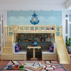 """Awesome """"bunk bed designs for teens"""" detail is available on our site. Check it o… Awesome """"bunk bed designs for teens"""" detail is available on our site. Check it out and you wont be sorry you did. Wood Bunk Beds, Modern Bunk Beds, Bunk Beds With Stairs, Kids Bunk Beds, Kids Beds Diy, Boys Bunk Bed Room Ideas, Kids Beds For Boys, Kids Bedroom Boys, Playroom Ideas"""