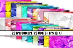 20 digital paper polygon textures #digital #paper #vector Vector Can, Logo Background, Scene Creator, Pattern And Decoration, Texture Design, Line Design, Journal Cards, School Design, Lightroom Presets