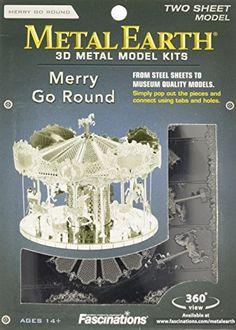 Fascinations Metal Earth 3D Laser Cut Model - Merry Go Ro...