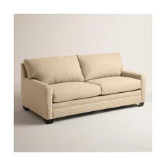Cost Plus World Market Chunky Woven Holman Upholstered Sleeper Sofa  ($1,400) ❤ Liked On