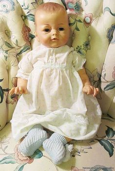 Vintage IDEAL TOY CO. Life-Size Baby Doll & Doll Clothes