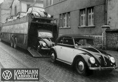 A truckload of Karmann Kabrioletts - Beetle