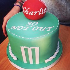 A cricket themed birthday cake Themed Birthday Cakes, Celebration Cakes, Cricket, Wedding Cakes, Desserts, Food, Shower Cakes, Wedding Gown Cakes, Tailgate Desserts