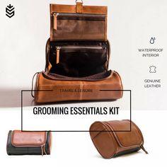 0bf2197d2efc Leather Shaving Kit   Hanging Travel Kit   Groom Toiletry Bag for Men    Tools Kit   Dopp Kit  cosmetic bag   mens kit   travel toiletries