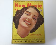 New Movie Magazine December 1933 - Cover Norma Shearer - Vintage Movie Magazine - Inside Will Rogers, Greta Garbo, John Gilbert by BagBagSydVintage on Etsy
