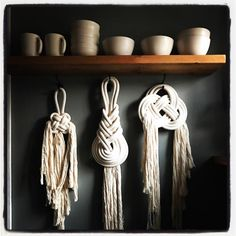 A beautiful bit of shop inspo this morning. We have some gorgeous wall hangings of all kinds ordered and making their way to little old Totnes. I cannot wait to show you all ✌ #knots #yarn #wallhanging #macramewallhanging #myhous