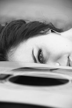 a girl and her guitar <3 #photography