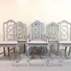 The new Modern Farmhouse Collection on Dining Room Chairs Dining Room Chairs, Custom Furniture, Barn Wood, Painting On Wood, Chalk Paint, Modern Farmhouse, Paint Colors, Interiors, Grey