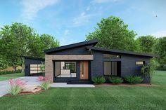 Small Modern House Plans, Modern House Design, Contemporary Home Exteriors, Modern Contemporary Homes, Small Modern House Exterior, Contemporary Architecture, Sustainable Architecture, Contemporary House Designs, Midcentury Modern House Plans