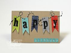 Project Ideas Newsletter – Masculine Birthday Flags – 01 23 2013 :: Paper Crafter's Library