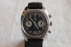 Vintage BWC Chronograph Valjoux 7734 Herren Uhr Top Zustand
